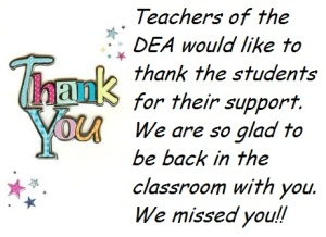 thank you students